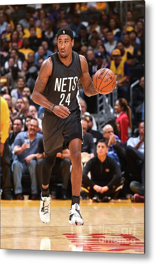 Nba Pro Basketball Metal Print featuring the photograph Rondae Hollis-jefferson by Andrew D. Bernstein