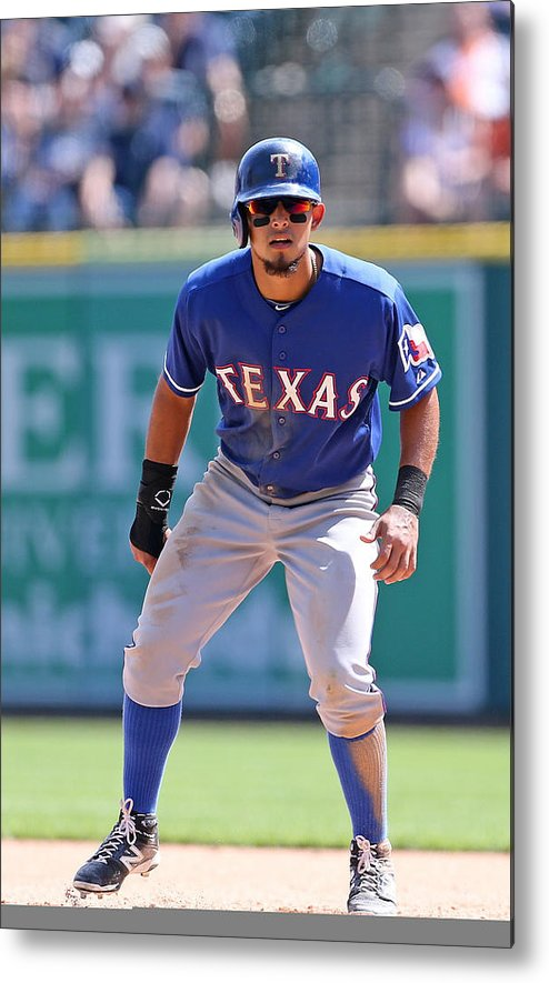 American League Baseball Metal Print featuring the photograph Rougned Odor by Leon Halip