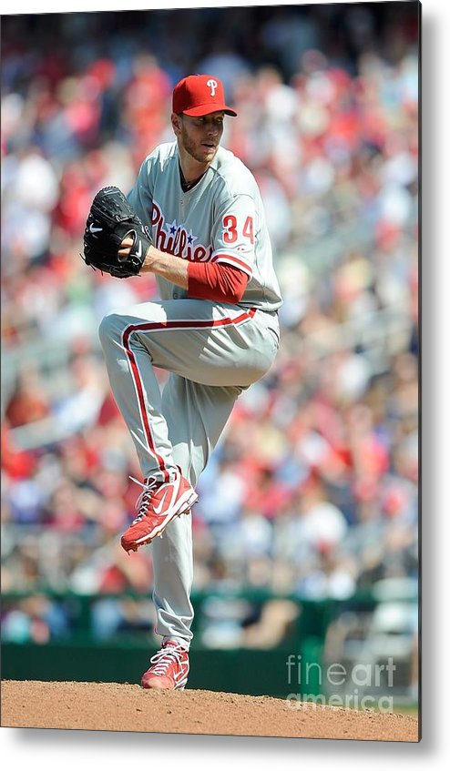 Baseball Pitcher Metal Print featuring the photograph Roy Halladay by G Fiume