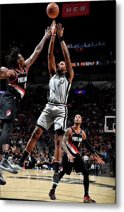 Nba Pro Basketball Metal Print featuring the photograph Rudy Gay by Logan Riely
