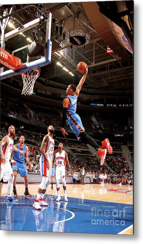 Nba Pro Basketball Metal Print featuring the photograph Russell Westbrook by Brian Sevald