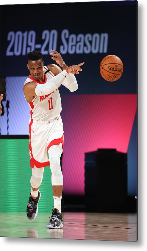 Nba Pro Basketball Metal Print featuring the photograph Russell Westbrook by David Sherman