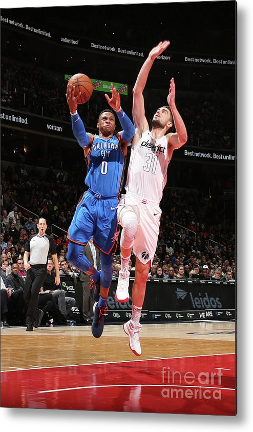 Nba Pro Basketball Metal Print featuring the photograph Russell Westbrook by Ned Dishman