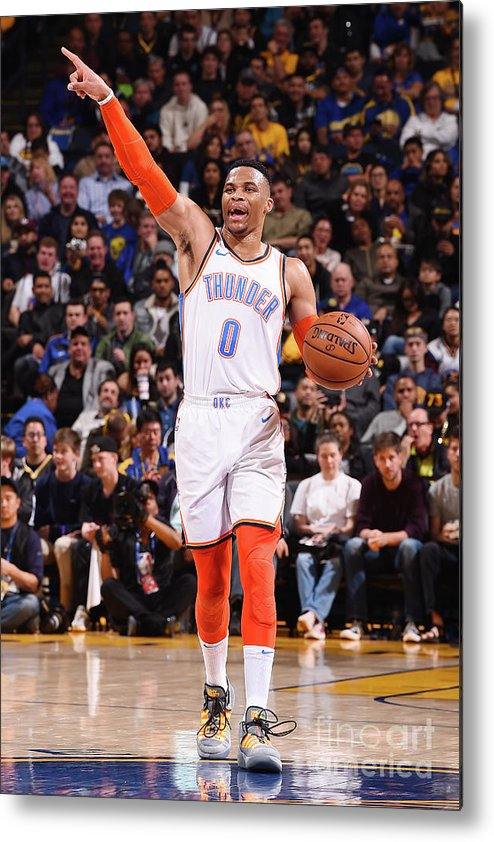 Nba Pro Basketball Metal Print featuring the photograph Russell Westbrook by Noah Graham