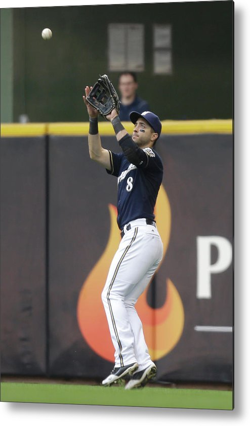 People Metal Print featuring the photograph Ryan Braun and Howie Kendrick by Mike Mcginnis