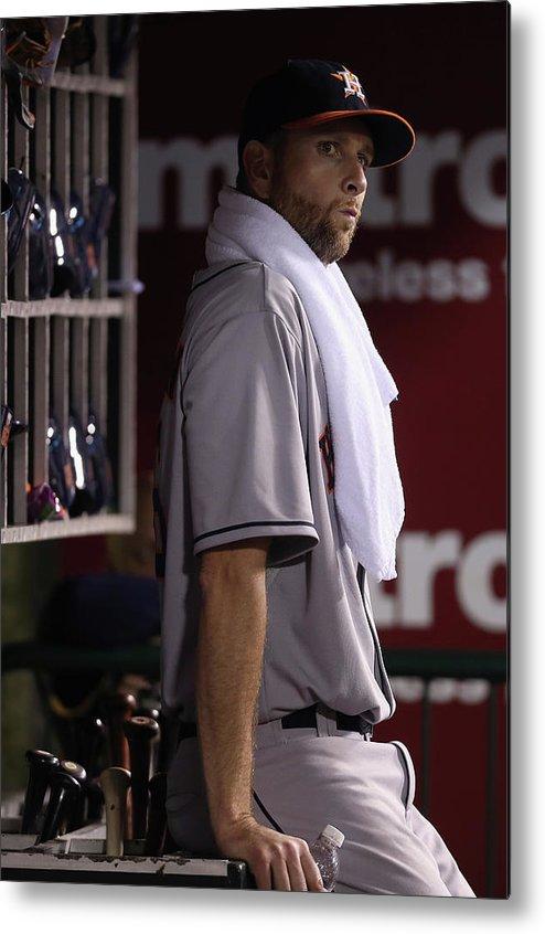 American League Baseball Metal Print featuring the photograph Scott Feldman by Jeff Gross