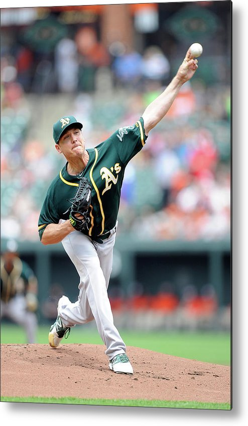 American League Baseball Metal Print featuring the photograph Scott Kazmir by Greg Fiume