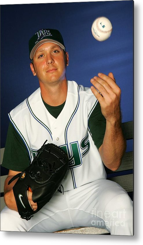 Media Day Metal Print featuring the photograph Scott Kazmir by Jamie Squire