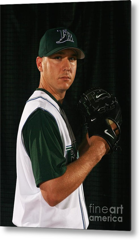 Media Day Metal Print featuring the photograph Scott Kazmir by Nick Laham