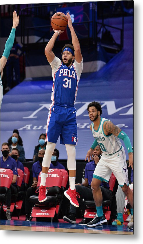 Nba Pro Basketball Metal Print featuring the photograph Seth Curry by David Dow
