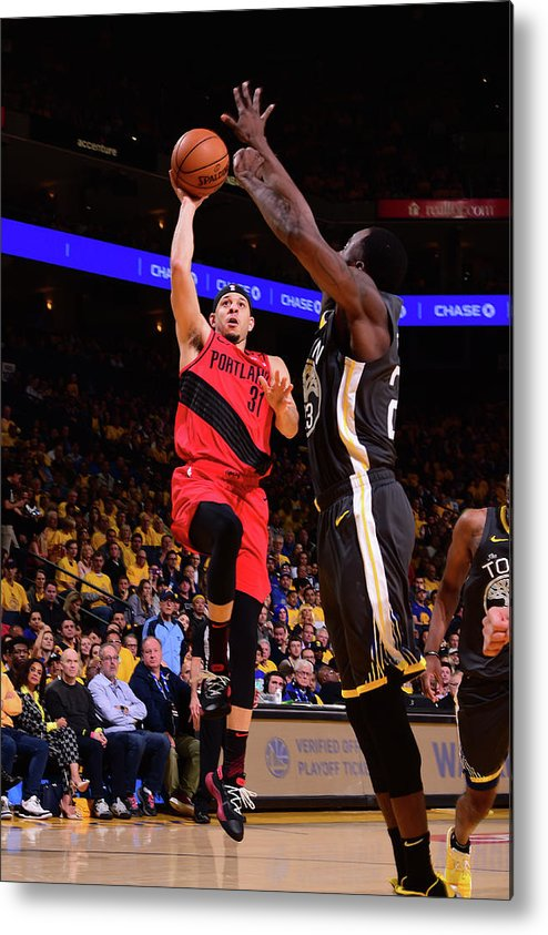 Playoffs Metal Print featuring the photograph Seth Curry by Noah Graham