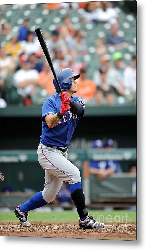 People Metal Print featuring the photograph Shin-soo Choo by Greg Fiume