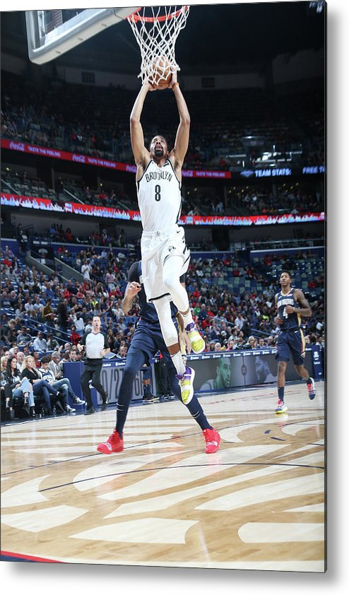 Smoothie King Center Metal Print featuring the photograph Spencer Dinwiddie by Layne Murdoch