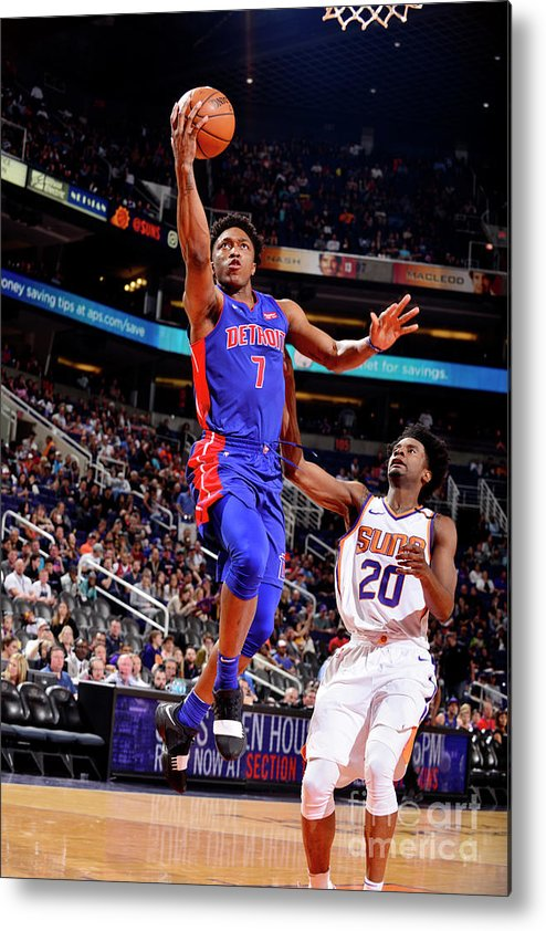 Sports Ball Metal Print featuring the photograph Stanley Johnson by Barry Gossage