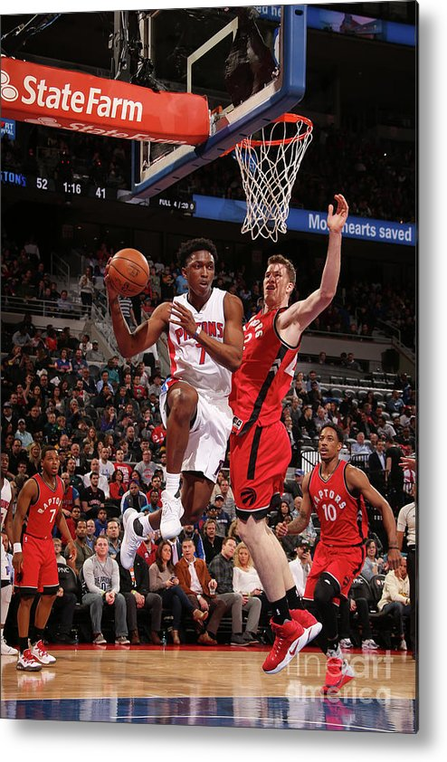Nba Pro Basketball Metal Print featuring the photograph Stanley Johnson by Brian Sevald