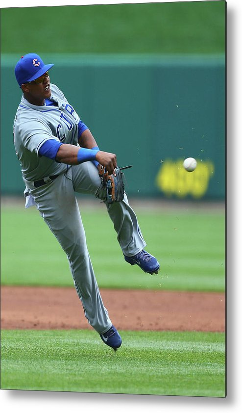 Second Inning Metal Print featuring the photograph Starlin Castro by Dilip Vishwanat