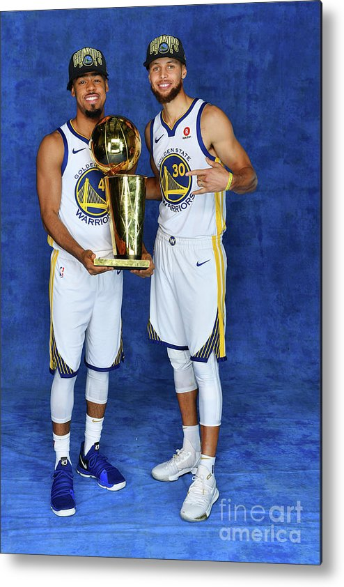 Playoffs Metal Print featuring the photograph Stephen Curry and Quinn Cook by Jesse D. Garrabrant