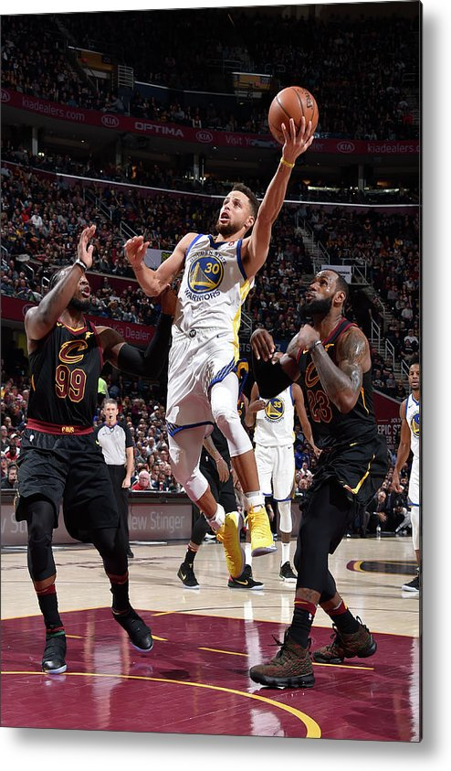 Nba Pro Basketball Metal Print featuring the photograph Stephen Curry by David Liam Kyle