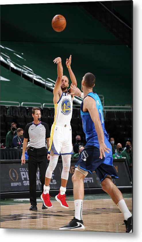 Nba Pro Basketball Metal Print featuring the photograph Stephen Curry by Gary Dineen