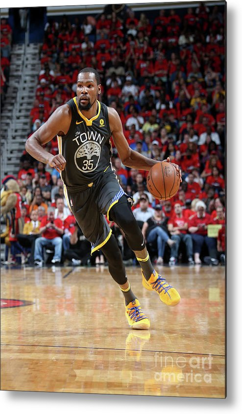 Smoothie King Center Metal Print featuring the photograph Stephen Curry by Layne Murdoch