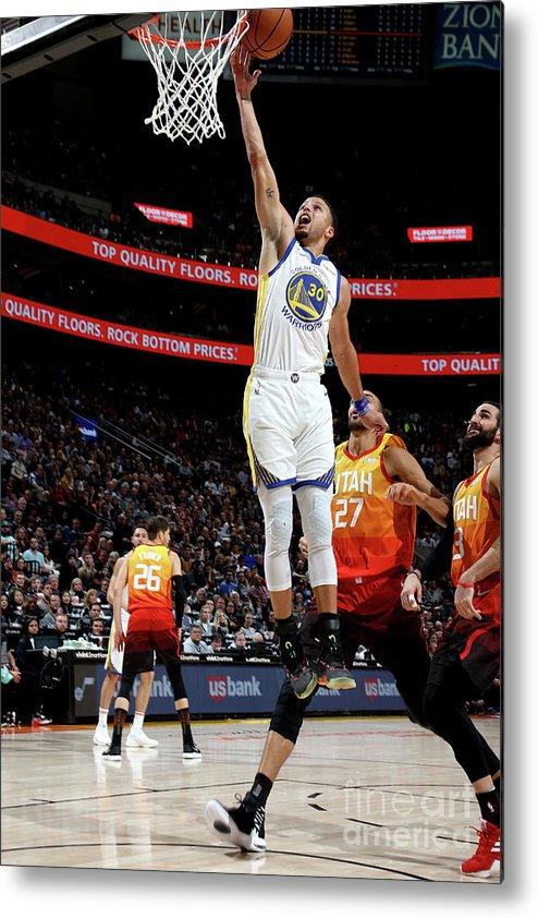 Nba Pro Basketball Metal Print featuring the photograph Stephen Curry by Melissa Majchrzak