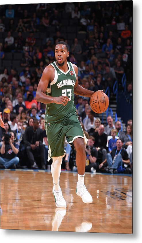 Nba Pro Basketball Metal Print featuring the photograph Sterling Brown by Bill Baptist