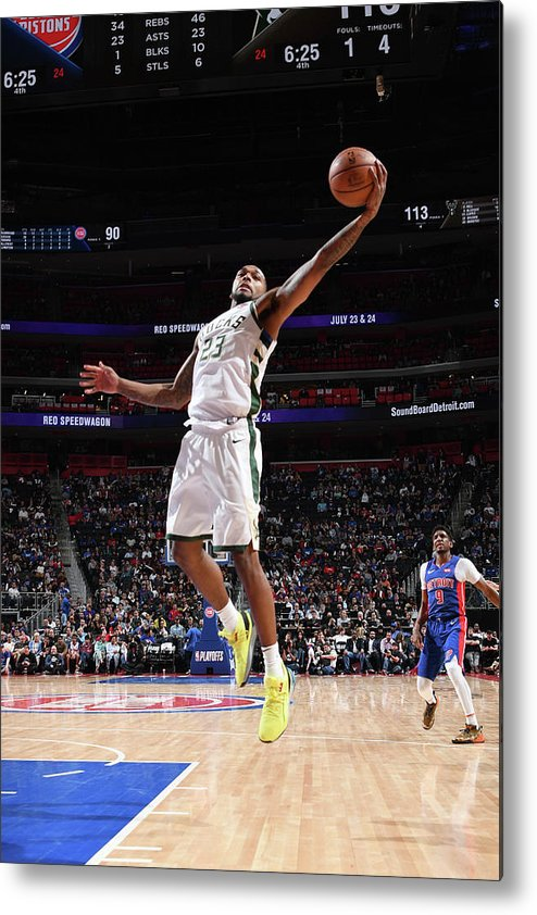 Playoffs Metal Print featuring the photograph Sterling Brown by Chris Schwegler
