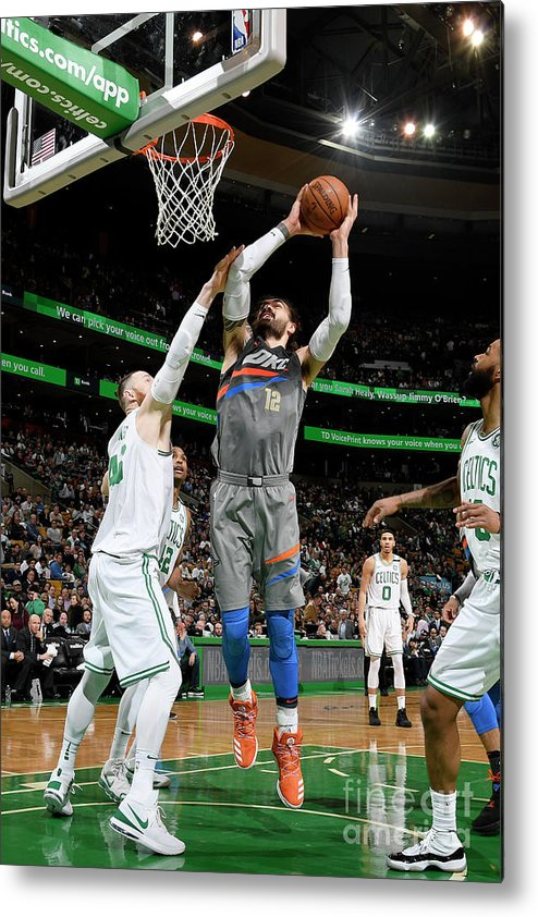 Nba Pro Basketball Metal Print featuring the photograph Steven Adams by Brian Babineau