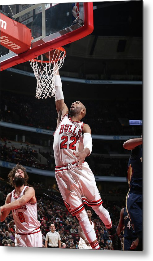 Nba Pro Basketball Metal Print featuring the photograph Taj Gibson by Gary Dineen