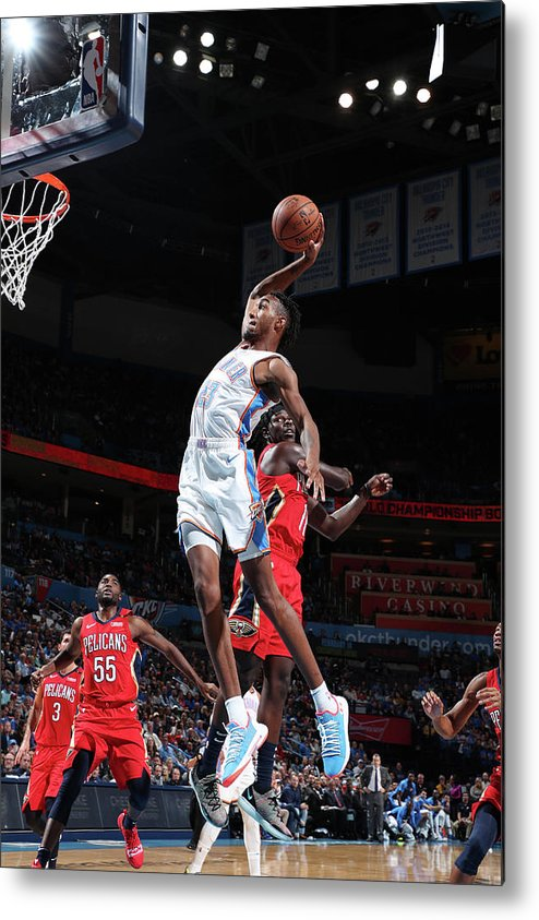 Nba Pro Basketball Metal Print featuring the photograph Terrance Ferguson by Joe Murphy