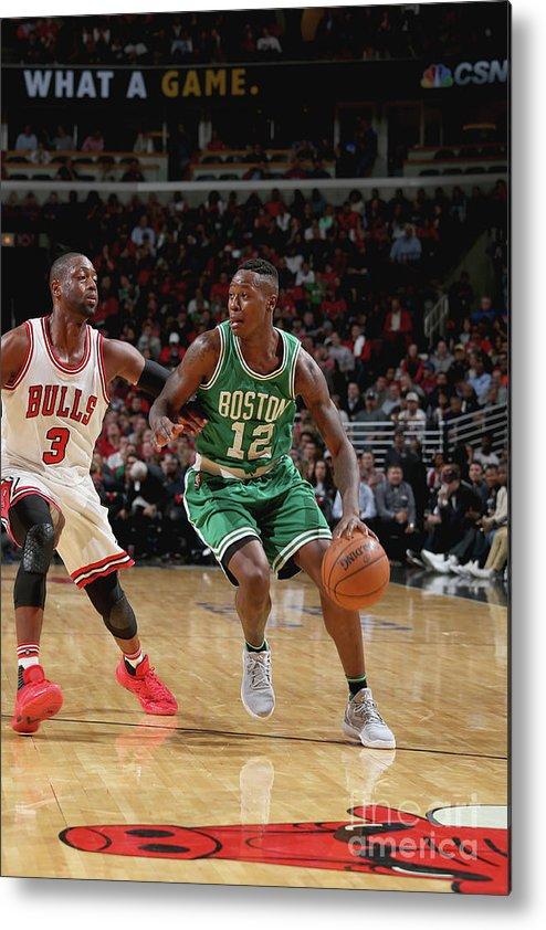 Nba Pro Basketball Metal Print featuring the photograph Terry Rozier by Gary Dineen