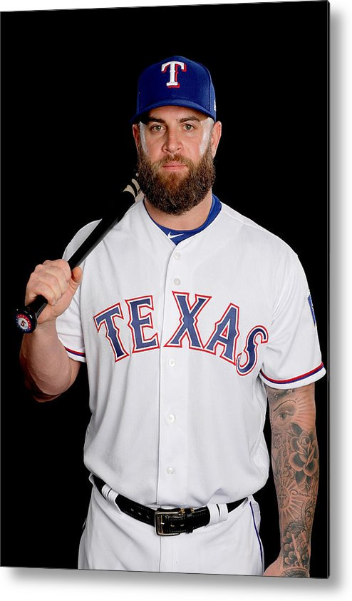 Media Day Metal Print featuring the photograph Texas Rangers Photo Day by Jamie Squire