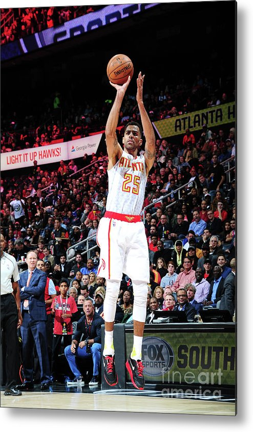 Atlanta Metal Print featuring the photograph Thabo Sefolosha by Scott Cunningham