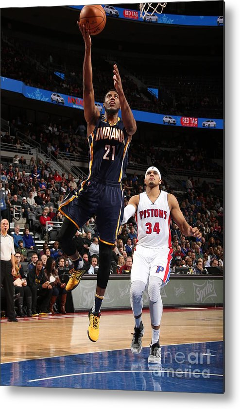Nba Pro Basketball Metal Print featuring the photograph Thaddeus Young by Brian Sevald