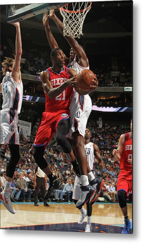 Nba Pro Basketball Metal Print featuring the photograph Thaddeus Young by Brock Williams-smith