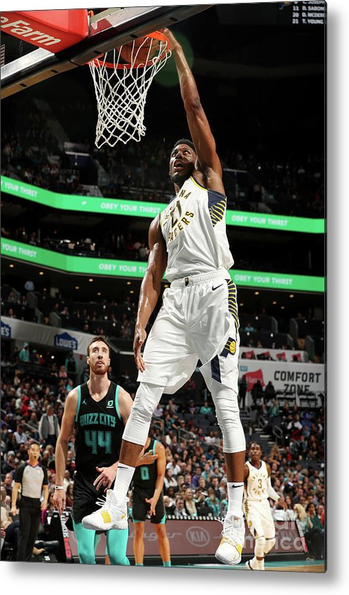 Nba Pro Basketball Metal Print featuring the photograph Thaddeus Young by Kent Smith
