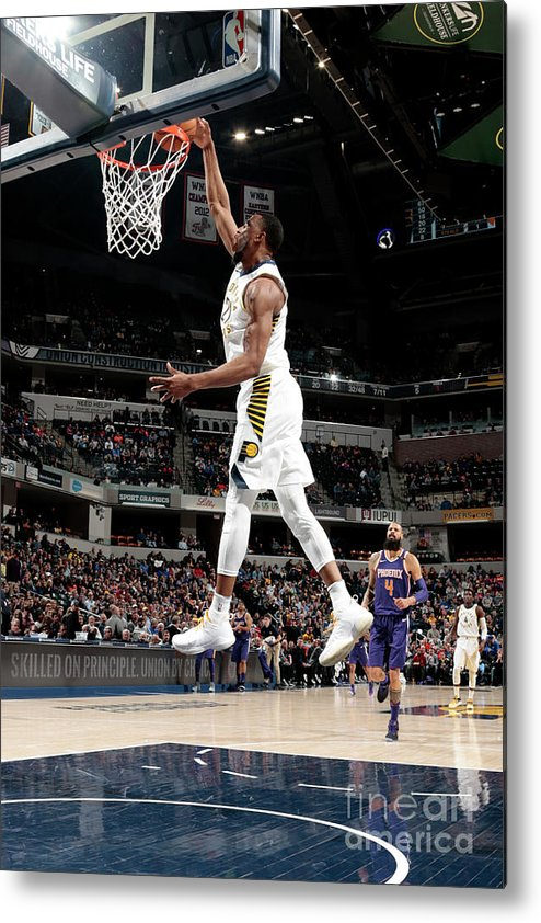 Nba Pro Basketball Metal Print featuring the photograph Thaddeus Young by Ron Hoskins