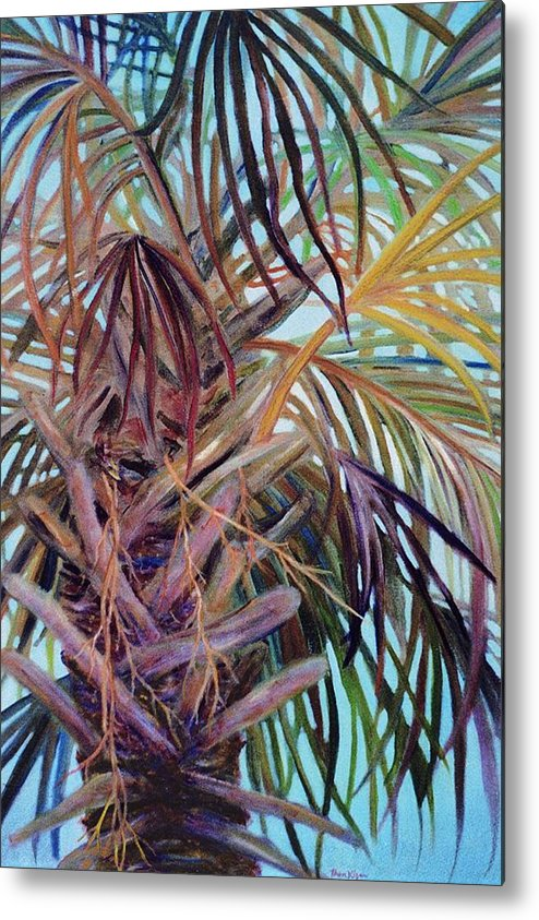 Palm Tree Metal Print featuring the painting The Palm by Ben Kiger