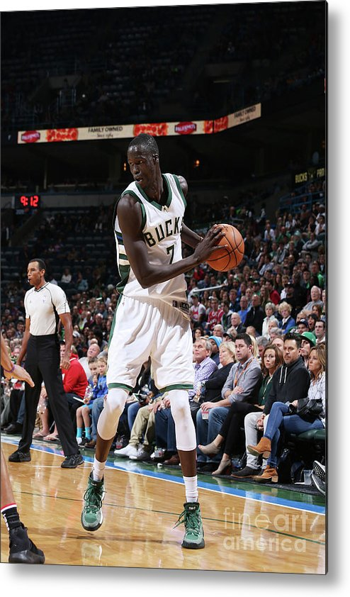 Nba Pro Basketball Metal Print featuring the photograph Thon Maker by Gary Dineen