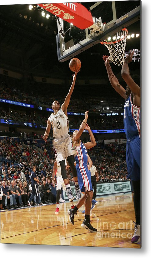 Smoothie King Center Metal Print featuring the photograph Tim Frazier by Layne Murdoch