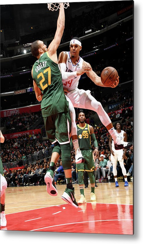 Nba Pro Basketball Metal Print featuring the photograph Tobias Harris by Andrew D. Bernstein