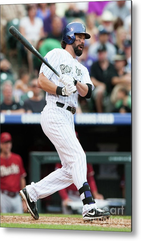 Todd Helton Metal Print featuring the photograph Todd Helton by Dustin Bradford