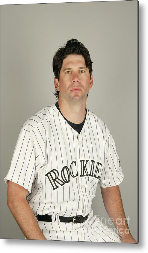 Media Day Metal Print featuring the photograph Todd Helton by Harry How