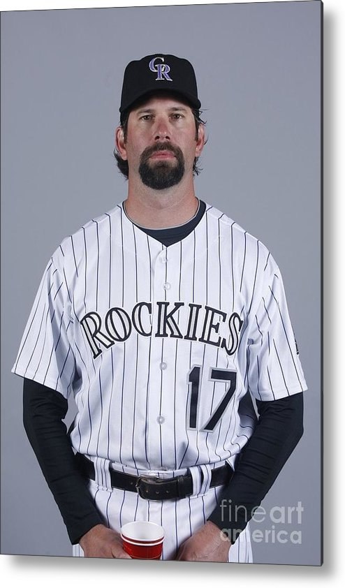 Media Day Metal Print featuring the photograph Todd Helton by Rick Scuteri