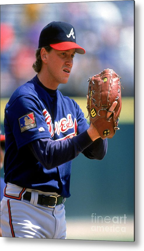 Baseball Pitcher Metal Print featuring the photograph Tom Glavine by Don Smith