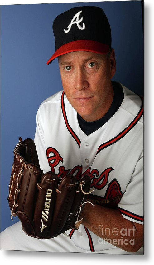 Media Day Metal Print featuring the photograph Tom Glavine by Elsa