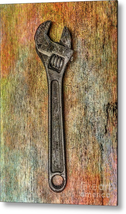 Tool On Rusty Metal Metal Print featuring the digital art Tool on Rusty Metal Two by Randy Steele