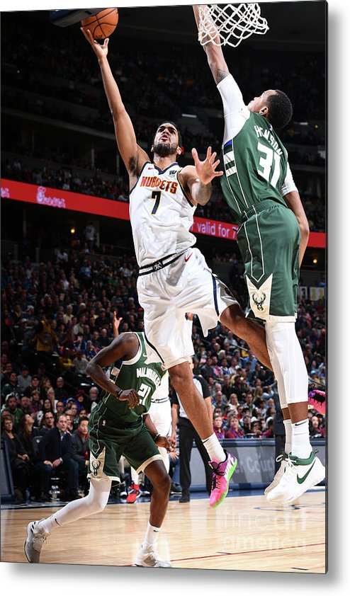 Nba Pro Basketball Metal Print featuring the photograph Trey Lyles by Garrett Ellwood