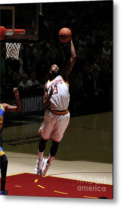 Playoffs Metal Print featuring the photograph Tristan Thompson by Garrett Ellwood