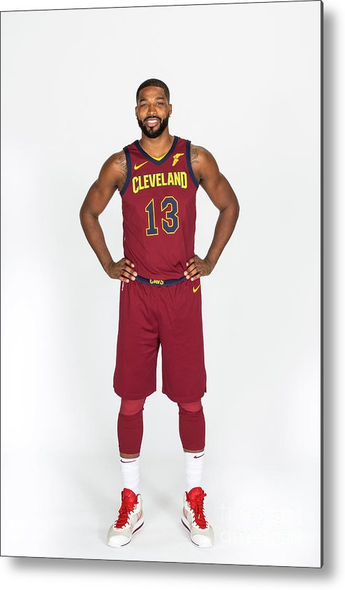 Media Day Metal Print featuring the photograph Tristan Thompson by Michael J. Lebrecht Ii